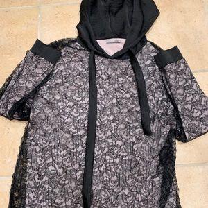 Lace Hoodie Shirt
